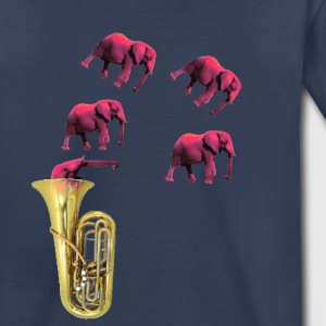 IMG 2652 Tuba Pink Elephants on Parade - Toddler Premium T-Shirt
