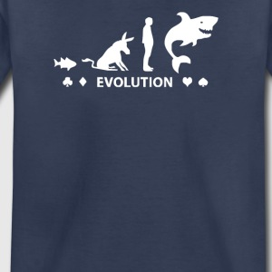 Poker Fish To Shark Evolution - Toddler Premium T-Shirt
