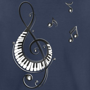 Clef with piano and music notes, i love music. - Toddler Premium T-Shirt