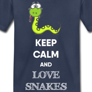 KEEP CALM AND LOVE SNAKES - Toddler Premium T-Shirt