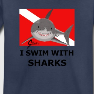 I Swim With Sharks! - Toddler Premium T-Shirt
