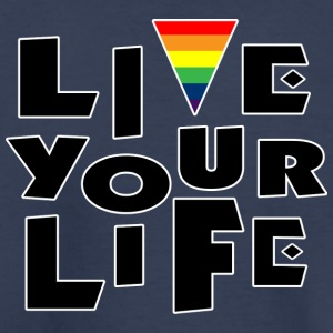 Live Your Life Gay Pride Tee Shirt - Toddler Premium T-Shirt
