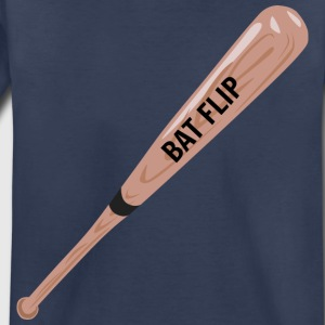 Bat Flip Bat - Official Ruth Clothing - Toddler Premium T-Shirt