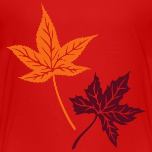 Maple, autumn, leaves, maple leaves - Toddler Premium T-Shirt