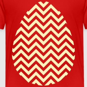Gold Easter Egg Chevron - Toddler Premium T-Shirt