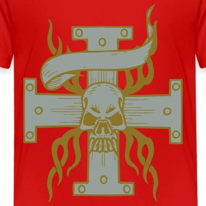 Skull on Cross - Toddler Premium T-Shirt
