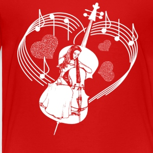 Cello Heart Shirt - Toddler Premium T-Shirt