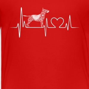 Bull Terrier Heartbeat Shirt - Toddler Premium T-Shirt