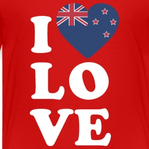 I love New Zealand - Toddler Premium T-Shirt