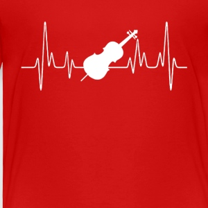 Cello Heartbeat Shirt - Toddler Premium T-Shirt