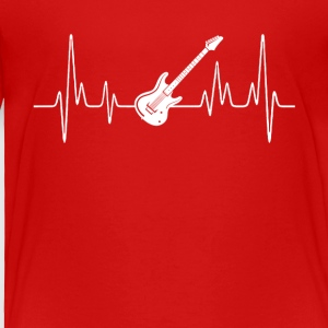 Electric Guitar Heartbeat Shirt - Toddler Premium T-Shirt