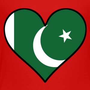 Pakistani Flag Heart - Toddler Premium T-Shirt
