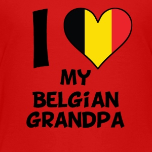 I Heart My Belgian Grandpa - Toddler Premium T-Shirt