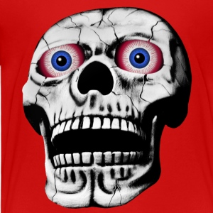skull with red glowing eyes - Toddler Premium T-Shirt