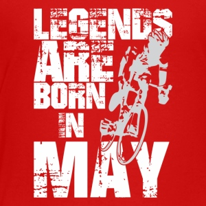 Legends Are Born In May Cycling - Toddler Premium T-Shirt
