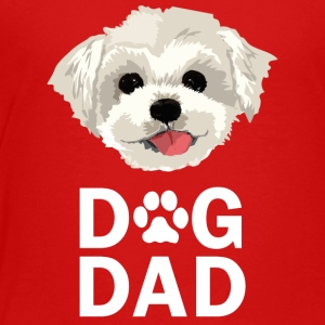 Dog Dad Maltese Funny Fathers Day Gift Paw - Toddler Premium T-Shirt