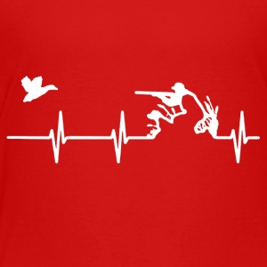 Duck Hunting Heartbeat Shirt - Toddler Premium T-Shirt