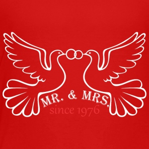 Mr And Mrs Since 1976 Married Marriage Engagement - Toddler Premium T-Shirt