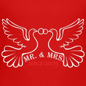 Mr And Mrs Since 2005 Married Marriage Engagement - Toddler Premium T-Shirt