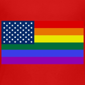 LGBT United States Flag - Toddler Premium T-Shirt