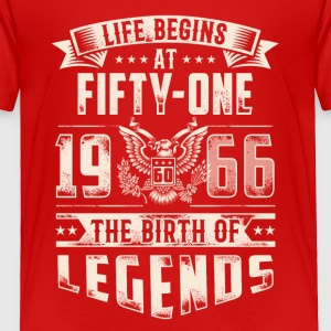 Life Begins At Fifty One Tshirt - Toddler Premium T-Shirt