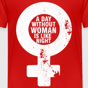 A Day Without A Woman - Toddler Premium T-Shirt