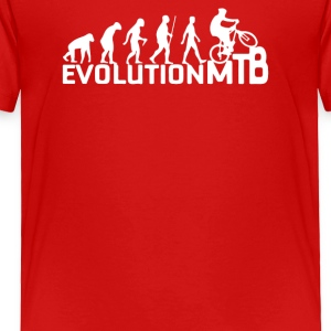 Evolution Of A Mountain Biker - Toddler Premium T-Shirt