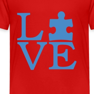 Autism Awareness T-Shirt - I Love Person With Auti - Toddler Premium T-Shirt