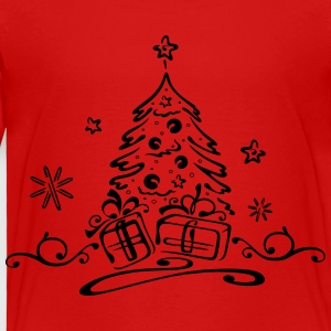 Christmas tree with gifts and stars - Toddler Premium T-Shirt