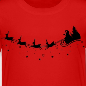 Merry Christmas. Reindeer with sleigh - Toddler Premium T-Shirt