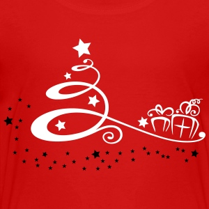 Abstract christmas tree with stars and gifts. - Toddler Premium T-Shirt