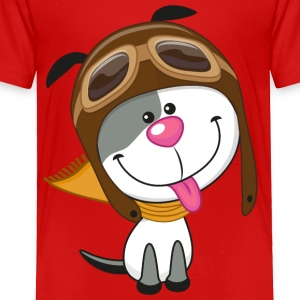 dog-pilot-scarf-sky - Toddler Premium T-Shirt