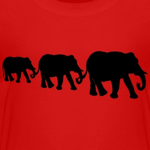 Elephant family, silhouettes. - Toddler Premium T-Shirt