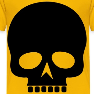 Black Skull Silhouette - Toddler Premium T-Shirt