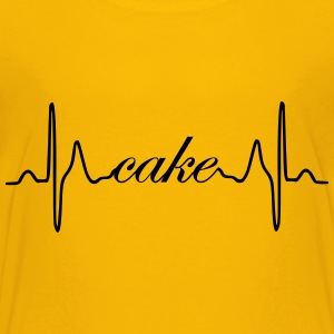 Cake ECG heartbeat - Toddler Premium T-Shirt