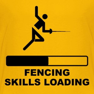 Fencing Skills Loading - Toddler Premium T-Shirt