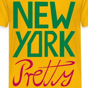 NEW YORK PRETTY Shirt, NY City Fun T-Shirt - Toddler Premium T-Shirt