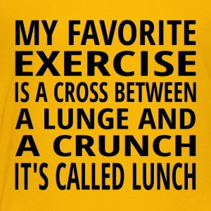 My Favorite Exercise Is Lunch - Toddler Premium T-Shirt