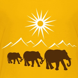 Elephants in the desert, vacation, travel. - Toddler Premium T-Shirt