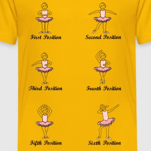 5 ballet positions dab - Toddler Premium T-Shirt