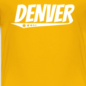 Denver Retro Comic Book Style Logo - Toddler Premium T-Shirt
