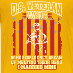 US Veteran Wife T Shirt - Toddler Premium T-Shirt