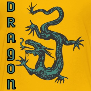 down_looking_dragon_color - Toddler Premium T-Shirt