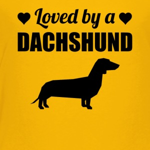 Loved By A Dachshund - Toddler Premium T-Shirt