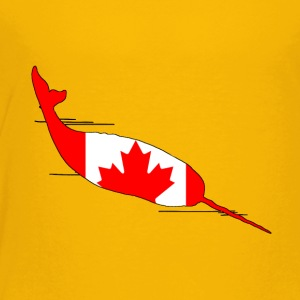 Canada Flag - Narwhal - Toddler Premium T-Shirt