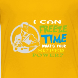 I can freeze time, Superpower T-shirt design - Toddler Premium T-Shirt