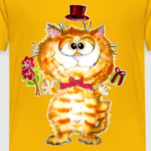 Silly Fluffy Cat - Toddler Premium T-Shirt
