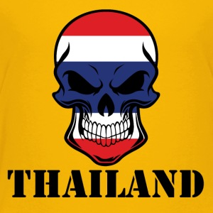 Thai Flag Skull Thailand - Toddler Premium T-Shirt