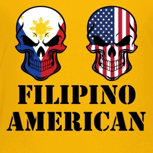 Filipino American Flag Skulls - Toddler Premium T-Shirt
