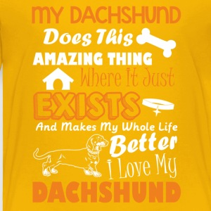 Amazing Dachshund Tee Shirt - Toddler Premium T-Shirt